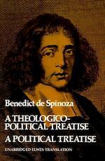 A theologico-political treatise and a political treatise - Benedictus de Spinoza (ISBN 9780486202495)
