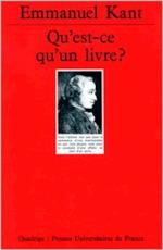 Qu'est-ce qu'un livre? - Immanuel Kant, Johann Gottlieb Fichte (ISBN 9782130467632)