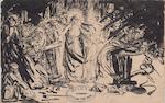 Edmond van Offel - inkttekening [na 26 mei 1891]