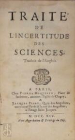 Traité de l'incertitude des Sciences [par Thomas Baker], traduit de l'anglois par Berger - T. Baker