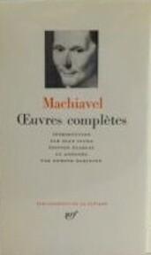 Oeuvres Complètes - Niccolò Machiavelli (ISBN 2070103234)