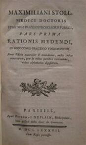 Rationis Medendi, in nosocomio practico vindobonensi - Maximilian Stoll