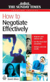 How to Negotiate Effectively - David Oliver (ISBN 9780749448202)