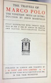 The Travels of Marco Polo, the Venetian - John Masefield