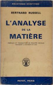 L'Analyse de la matière - Bertrand Russell