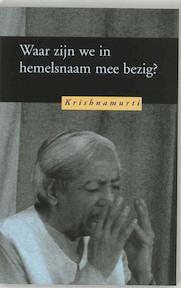 Waar zijn we in hemelsnaam mee bezig ? - Krishnamurti (ISBN 9789062719075)