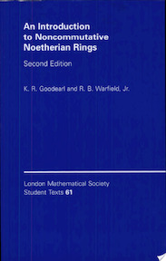 An Introduction to Noncommutative Noetherian Rings - K. R. Goodearl, Jr R. B. Warfield (ISBN 9780521545372)