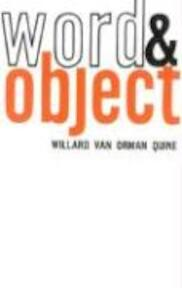 Word and Object - Willard Van Orman Quine (ISBN 9780262670012)