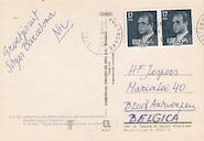 Van Bruggen aan H.Fl. Jespers - Briefkaart Barcelona - VAN BRUGGEN, Nic