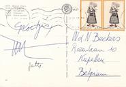 Van Bruggen aan Walter Beckers - Briefkaart Thira - VAN BRUGGEN, Nic