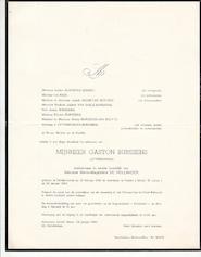 Gaston Burssens - rouwbrief / overlijdensbericht - BURSSENS, Gaston