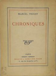 Chroniques - Marcel Proust