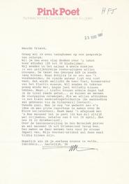 Van Bruggen aan H.Fl. Jespers - brief over &Vondel - VAN BRUGGEN, Nic