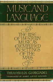 Music and Language - Thrysabulos Georgiades (ISBN 9780521233095)