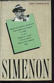 Tout Simenon 1 - Georges Simenon (ISBN 2724246810)