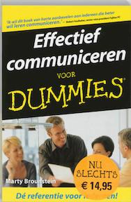 Effectief communiceren voor Dummies - Marty Brounstein (ISBN 9789043010412)