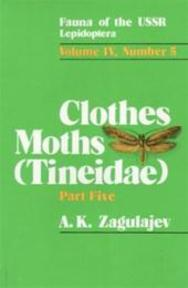 The Clothes Moths (Tineidae) Part 5: Subfamily Myrmecozelinae - A. K. Zagulajev (ISBN 9789004088726)