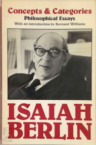 Concepts and Categories - Isaiah Berlin (ISBN 9780192830272)