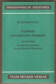 Psychologie vom empirischen Standpunkt - Franz Brentano (ISBN 9783787300143)