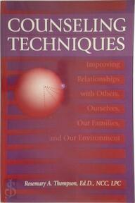 Counseling Techniques - R. Thompson (ISBN 9781560323976)
