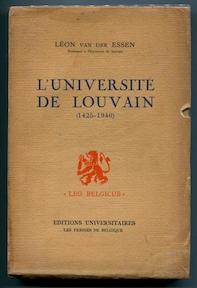 L'Université de Louvain - Léon Jean van Der Essen, Van Leon Essen