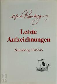 Letzte Aufzeichnungen - Alfred Rosenberg (ISBN 9783931637019)
