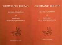 Oeuvres complètes - Tome 5, Expulsion de la bête triomphante - Giordano Bruno (ISBN 9782251344485)