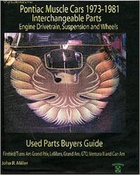 Pontiac Muscle Cars 1973-1981 Interchange Parts Engine Drivetrain, Suspension and Wheels Used Parts Buyers Guide (Salvage Yard Buyers Guide) - John R. Miller