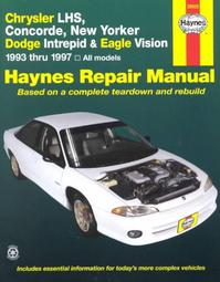 Haynes Chrysler Lhs, Concorde, New Yorker-dodge Intrepid and Eagle Vision 1993-97 - Mike Stubblefield (ISBN 9781563923166)