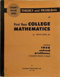 First Year College Mathematics - Frank Ayres