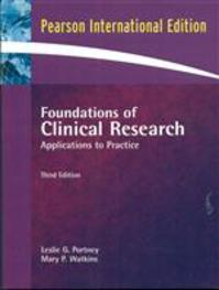 Foundations of clinical research - Leslie Gross Portney, Mary P. Watkins (ISBN 9780132344708)