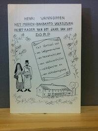 Het Midden-Brabants volksleven in het kader van het jaar van het dorp. - Henri Vannoppen