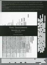 Vacuüm en ozon - Yves Coussement (ISBN 9789085420118)