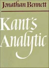Kant's Analytic - Jonathan Bennett, Jonathan Francis Bennett (ISBN 9780521093897)