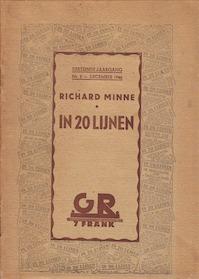 In 20 lijnen - Richard Minne