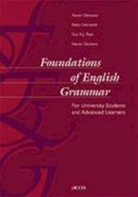 Foundations of English Grammar - Xavier Dekeyser (ISBN 9789033456374)
