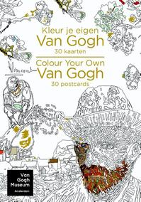 Kleur je eigen van gogh - 30 kaarten/colour your own van gogh - 30 postcards (ISBN 9789045211268)