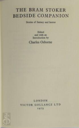 The Bram Stoker bedside companion - Charles Osborne