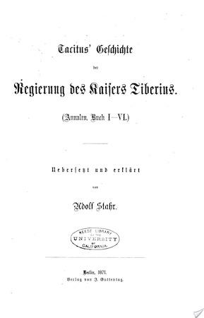 Annalen - Cornelius Tacitus