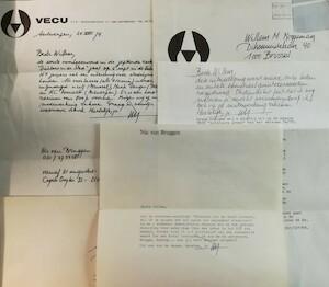 Van Bruggen aan W.M. Roggeman - 3 brieven - VAN BRUGGEN, Nic