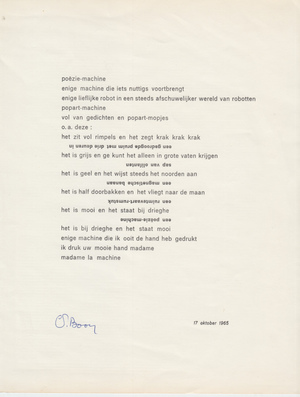 Poëzie-machine - BOON, Louis Paul