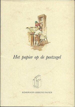 Het papier op de postzegel -