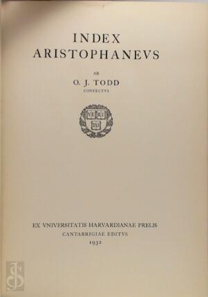 Index aristophaneus - O.J. Todd