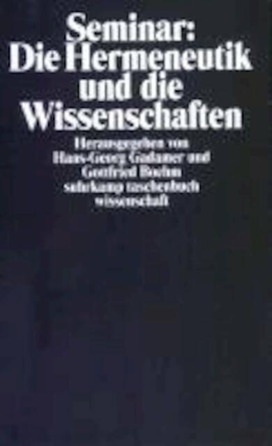 Seminar: Die Hermeneutik und die Wissenschaften -
