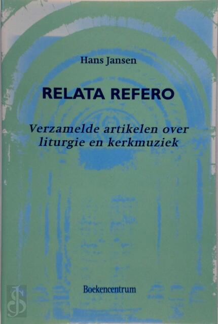 Relata refero - Hannah Jansen