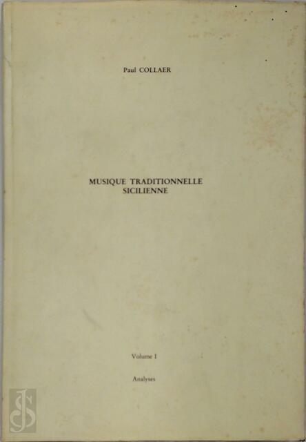 Musique traditionnelle sicilienne vol. 1 - Paul Collaer