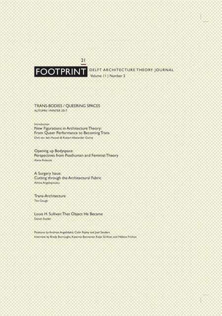Footprint 21 Trans-Bodies / Queering Spaces -