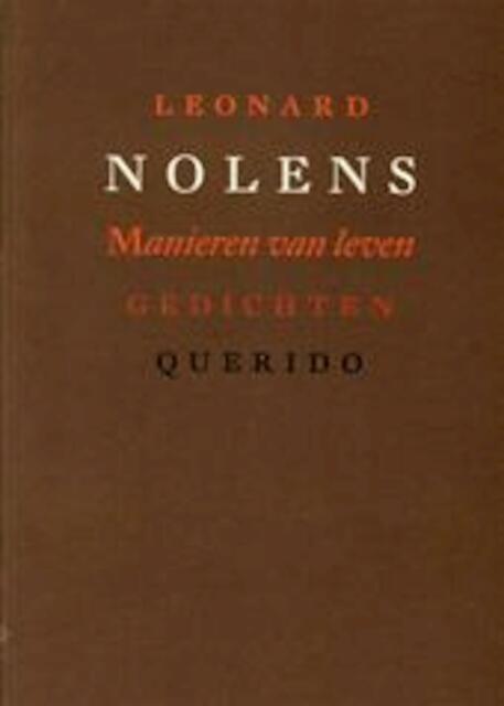 Manieren van leven - Leonard Nolens