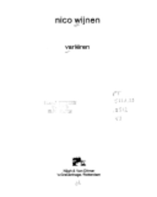Variëren - Nico Wijnen