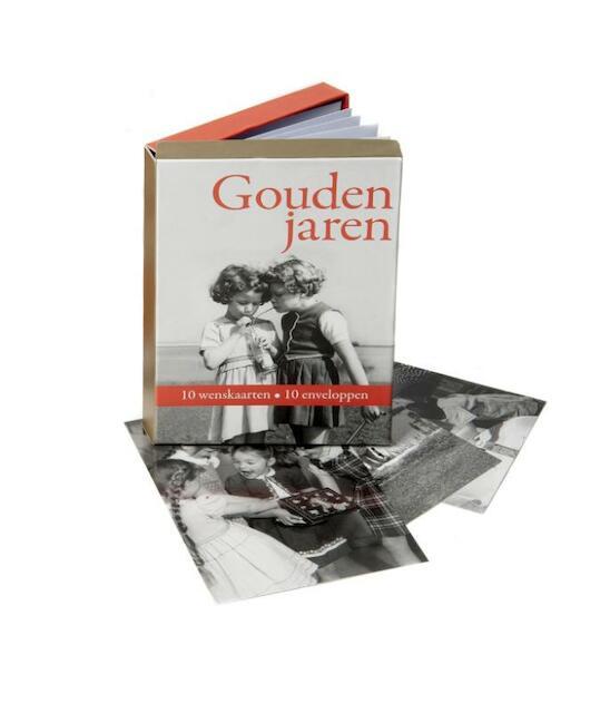 Gouden jaren wenskaarten in luxe bewaardoos - Annegreet van Bergen